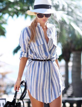 ac6d3122b8995f 21 Ways to style your shirt dresses this summer