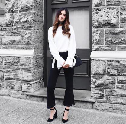 15 Minimalist Ways To Wear Black And White