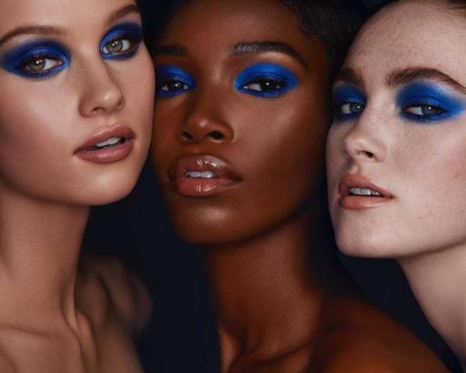 How to Rock Kim Kardashian's Blue Eyeshadow Look